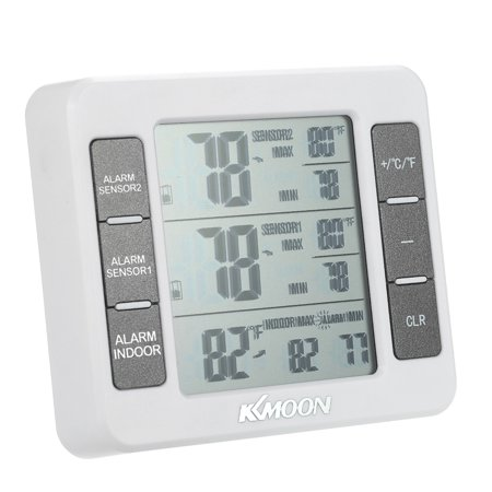 KKmoon Mini LCD Digital Thermometer Temperature Meter 0℃~50℃ with Measurement ℃/℉ Max Min Value Display - image 1 of 7