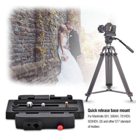 HURRISE QR Clamp Base Plate,QR Clamp,P200 Quick Release QR Clamp Base Plate for Manfrotto 500 AH 701 503 HDV 577 ()
