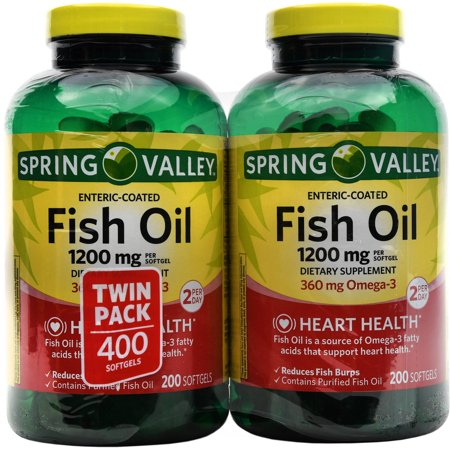 spring valley fish oil dietary supplement softgels 1200mg