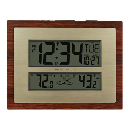 Better Homes & Gardens W86111 Atomic Digital Clock with Forecast & (Pandoras Clock)