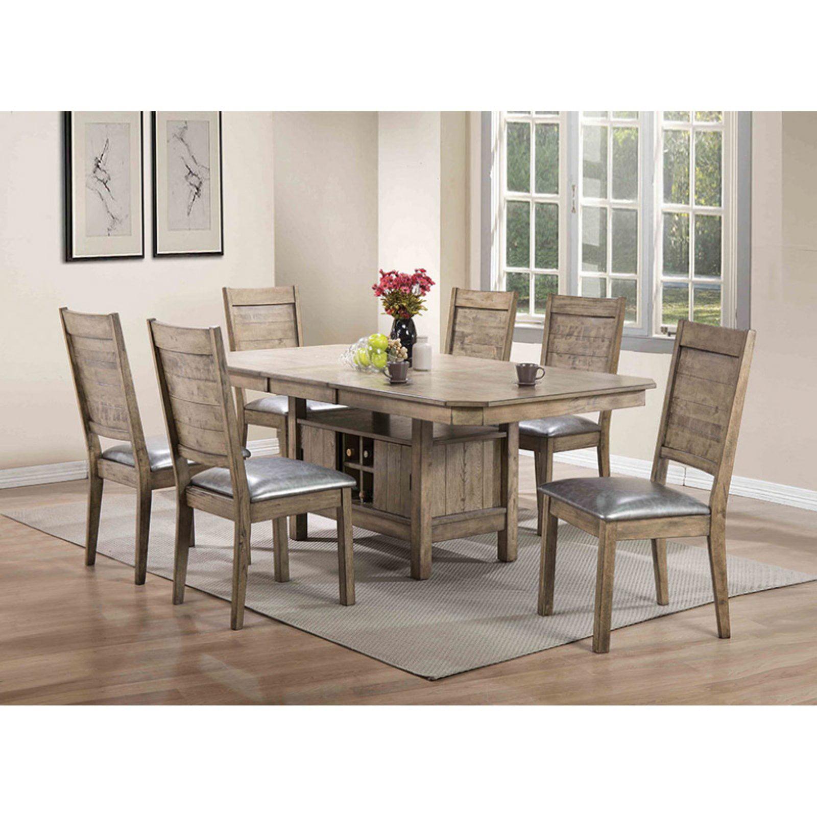 ACME Ramona Dining Table, Rustic Oak by Acme Furniture