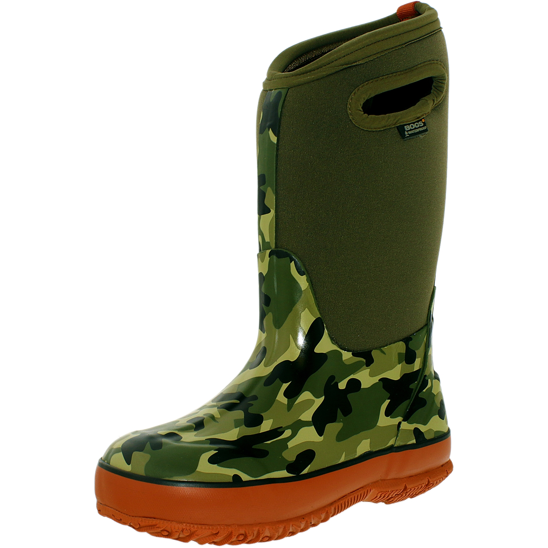 Bogs Boy's Camo Classics Olive Mid-Calf Fabric Rain Boot 5M by Bogs