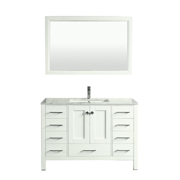 Transitional White Bathroom Vanity