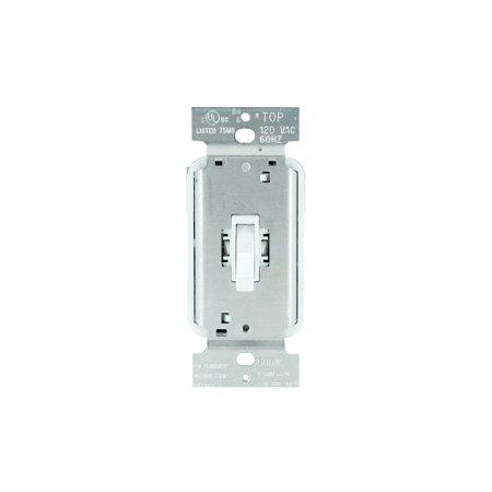 Pass & Seymour T600WV 600-Watt White Incandescent Toggle Dimmer 600 Watt Maestro Dimmer