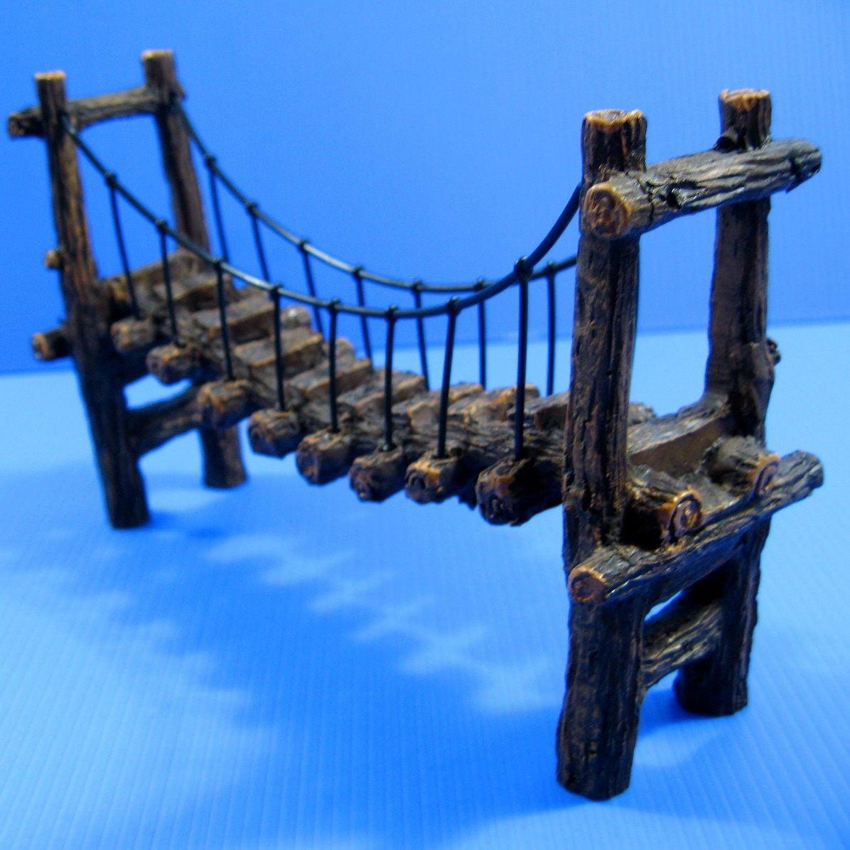 Drawbridge Bridge Aquarium Ornament resin Decoration L by