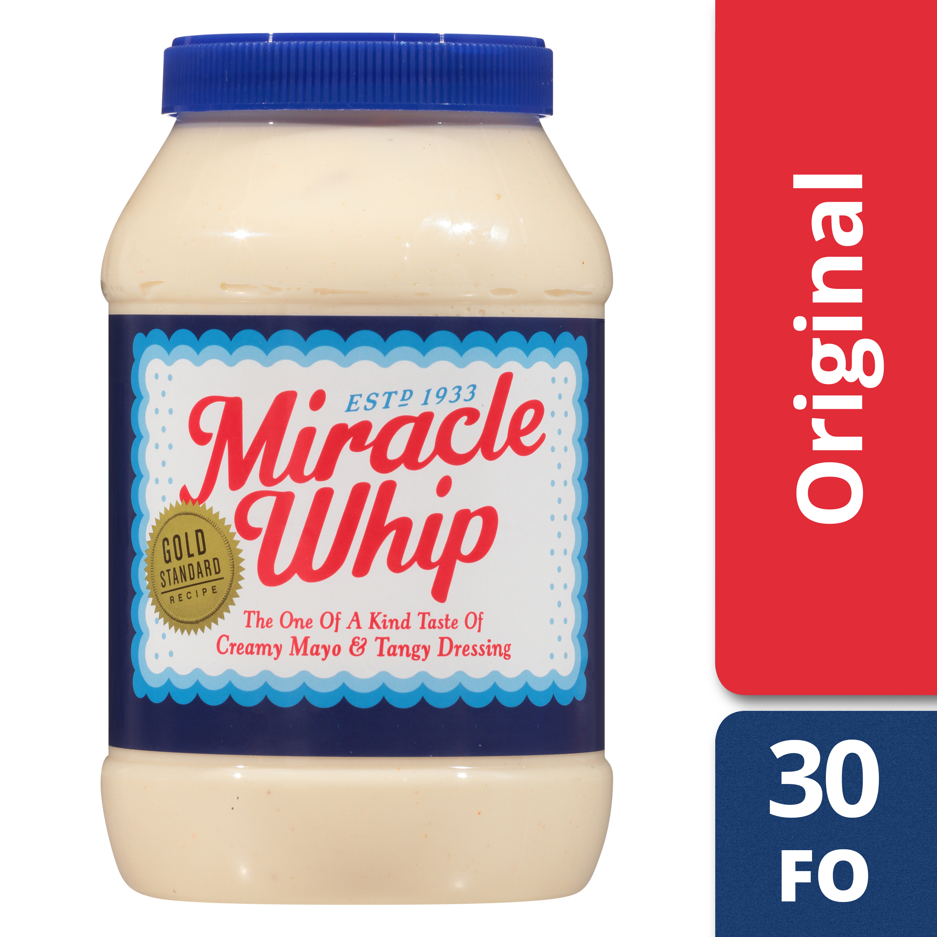 Miracle Whip Original Dressing Jar, 30 fl oz (887.20 ml)