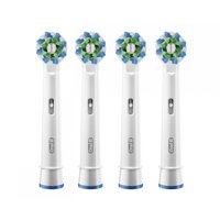 (2 or 4 Count) Oral-B CrossAction Electric Toothbrush Replacement Brush Head Fills, Black