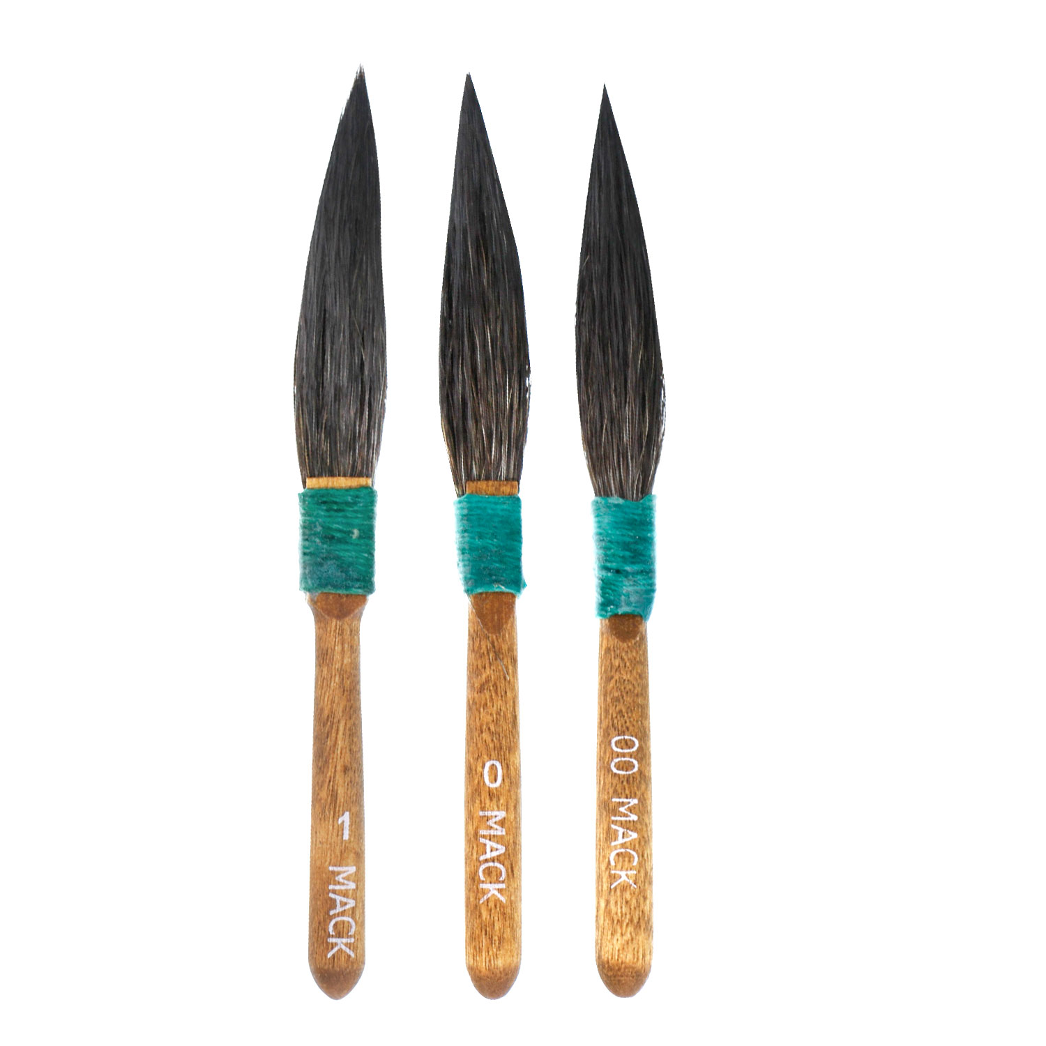 MACK 30 SERIES Squirrel Hair DAGGER STRIPER PINSTRIPING BRUSHES: SET OF 3 BRUSHES