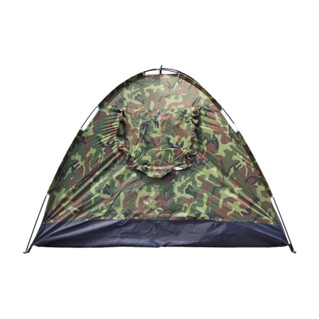 Zimtown 4 person Outdoor Camping Waterproof 4 season folding tent Camouflage (Best Way To Waterproof A Tent)