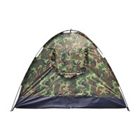 Zimtown 4 person Outdoor Camping Waterproof 4 season folding tent Camouflage Hiking