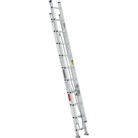 Louisville Ladder W-2328-20 20 ft. Aluminum Ladder, Type III, 200 ...