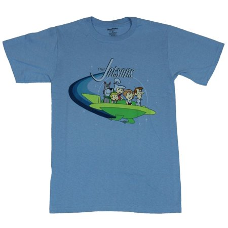 The Jetsons Mens T-Shirt - Flying Car Opening Family Credits Image - Halloween 3 Opening Credits
