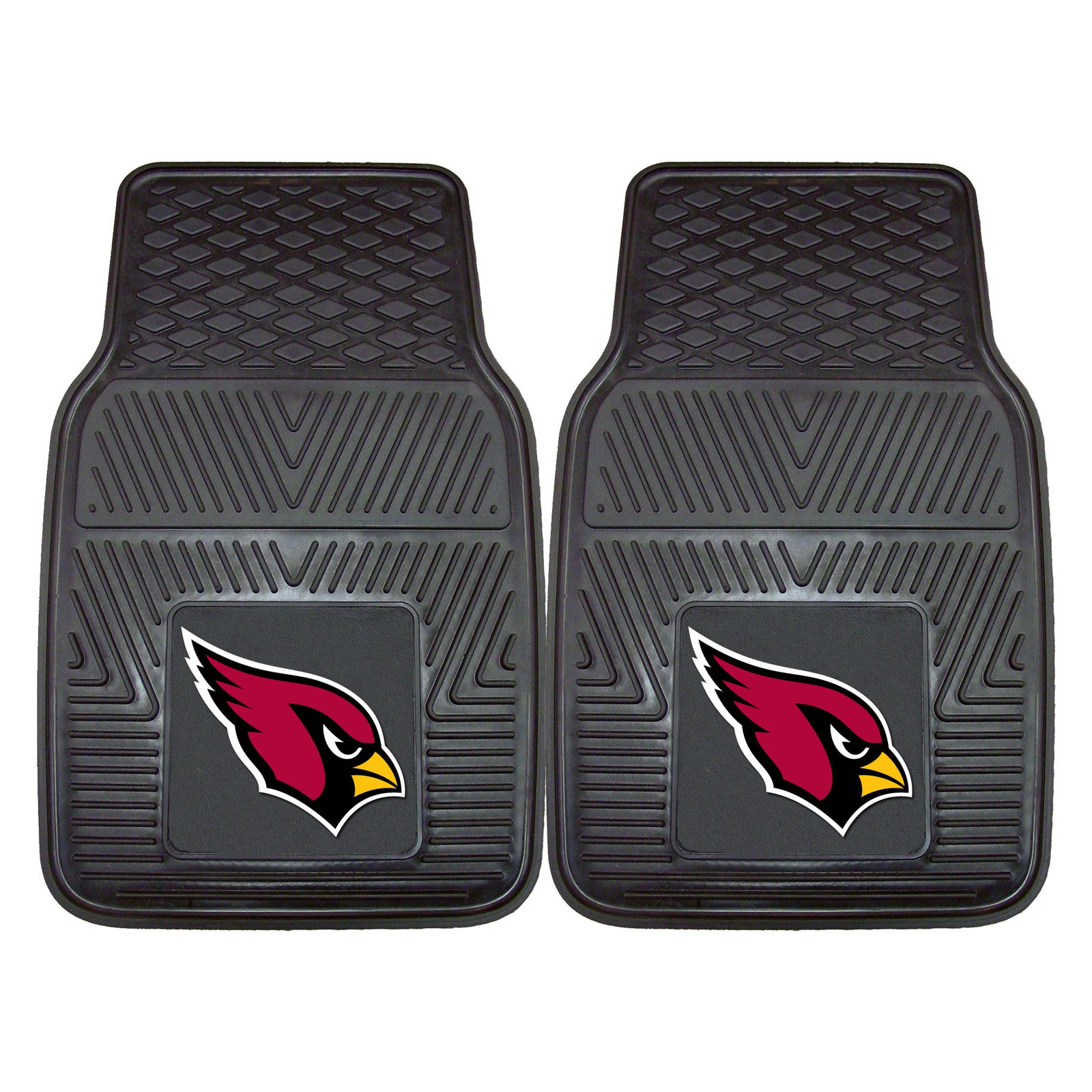 "Arizona Cardinals 2-pc Vinyl Car Mats 17""x27"" by Fan Mats"