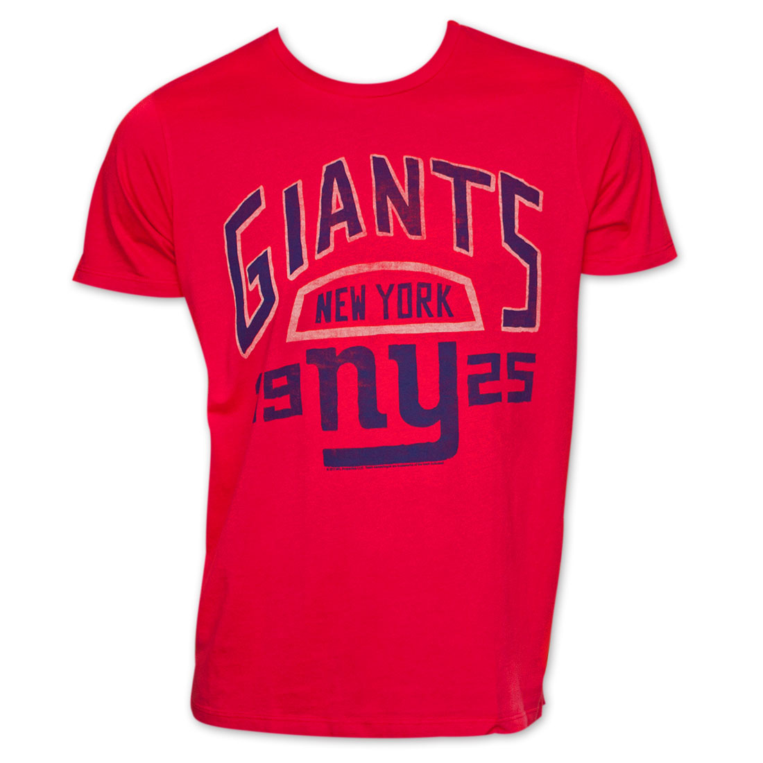 Junk Food NFL Football New York Giants 1925 T-Shirt - Red