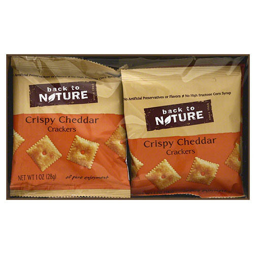 Back to Nature Crispy Cheddar Crackers, 1 oz, 8 count, (Pack of 4)
