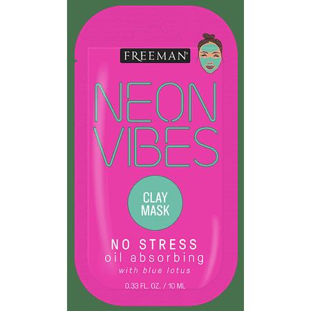 Freeman, Neon Vibes, Oil Absorbing, Clay Facial Mask
