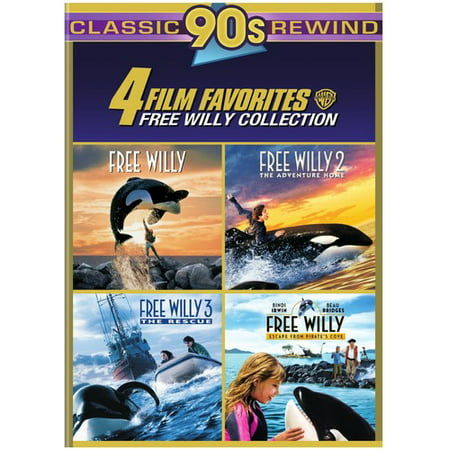 4 Film Favorites: Free Willy 1-4 (DVD) - Halloween Films For Family