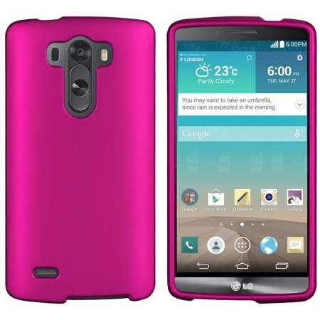 PINK RUBBERIZED HARD CASE COVER FOR LG G3 PHONE SPRINT VERIZON T-MOBILE (Verizon Cell Phone Cases)