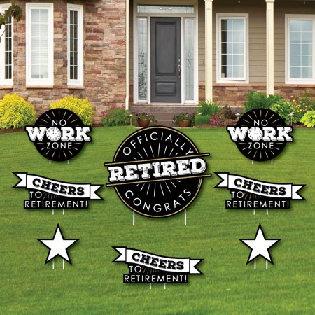 Happy Retirement - Yard Sign & Outdoor Lawn Decorations - Retirement Party Yard Signs - Set of 8 - Happy Halloween Yard Signs