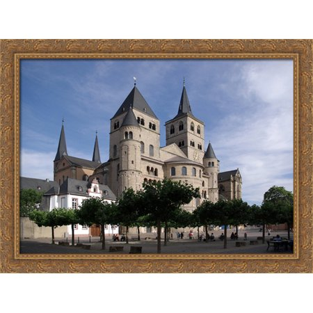 Trier Cathedral 36X28 Large Gold Ornate Wood Framed Canvas Art
