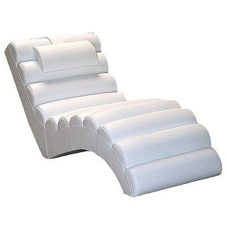 Orren Ellis Dariell Faux Leather Chaise Lounge Walmart Com