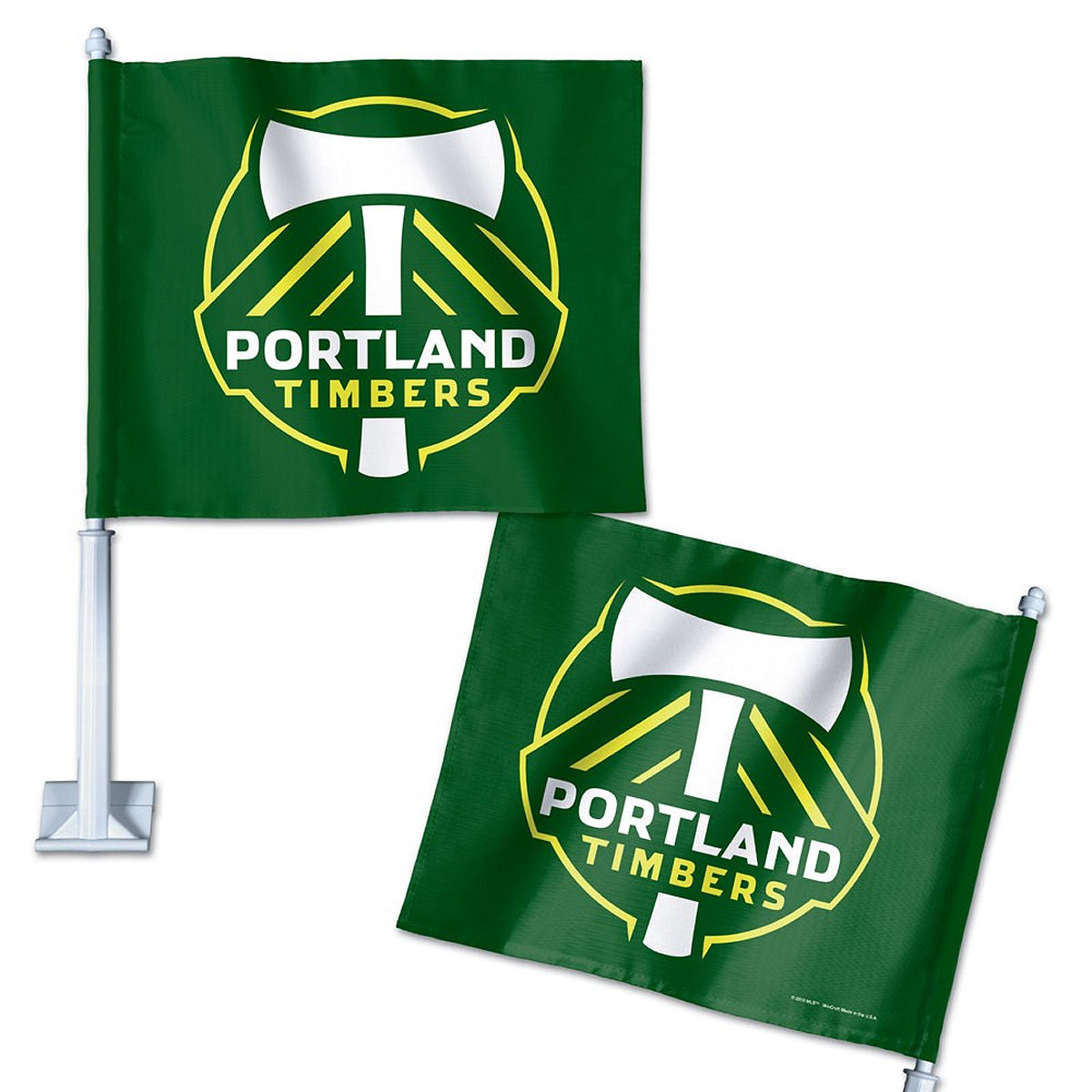 "Portland Timbers 12"" x 14"" Car Flag"