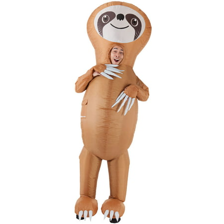 AFG Media LTD Inflatable Sloth Halloween Costume for Men, One Size, with Included Accessories (Sloth Animal Halloween Costume)