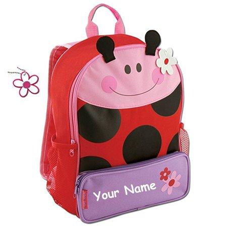 Stephen Joseph Personalized Little Girls Sidekick Ladybug Backpack With Name By Sj