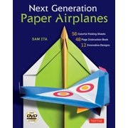 Next Generation Paper Airplanes Kit : Engineered for Extreme Performance, These Paper Airplanes are Guaranteed to Impress: Kit with Book, 32 origami papers & DVD