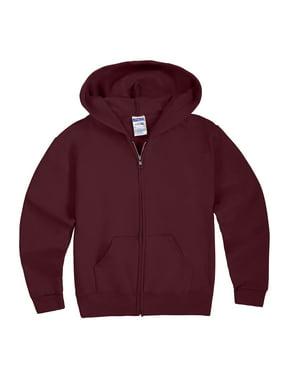 Jerzees Mid-Weight Fleece Full-Zip Hooded Sweatshirt (Little Boys & Big Boys)