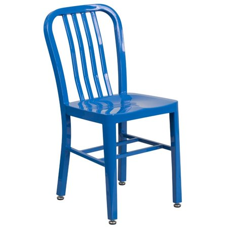 Bowery Hill Indoor-Outdoor Metal Dining Chair in Blue - image 1 of 4