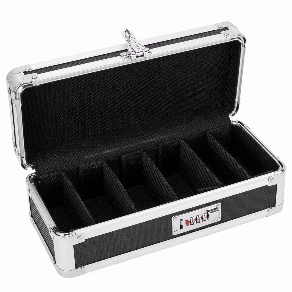 Locking Medicine Storage Box 11.88 x 5.25 x 3.75 inches Black