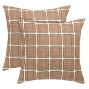 "Throw Pillow Case Classic Retro Plaid Pillow Cover Protector Cushion Cover for Home Office Car 18""x18"" Pack of 2,#22"