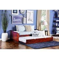Furniture of America Terin Twin Daybed with Trundle, Multiple Colors