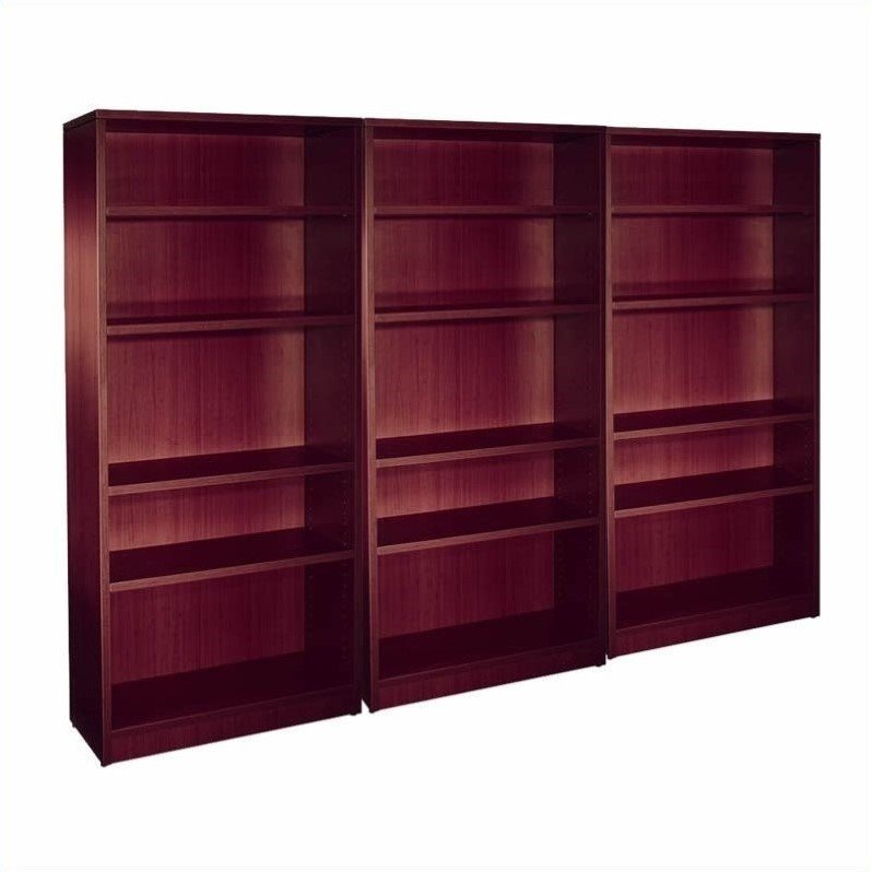 Offices to Go 4 Shelf Wall Bookcase in American Mahogany