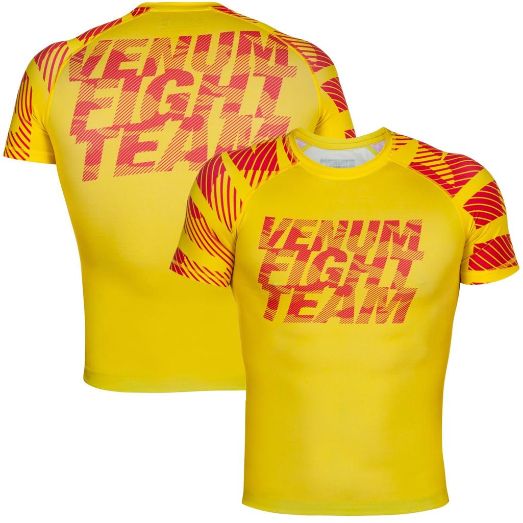 Venum Speed Urban Camo Short Sleeve MMA Rashguard - Yellow