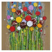 Crestview Collection Color Bloom Painting Print on Canvas