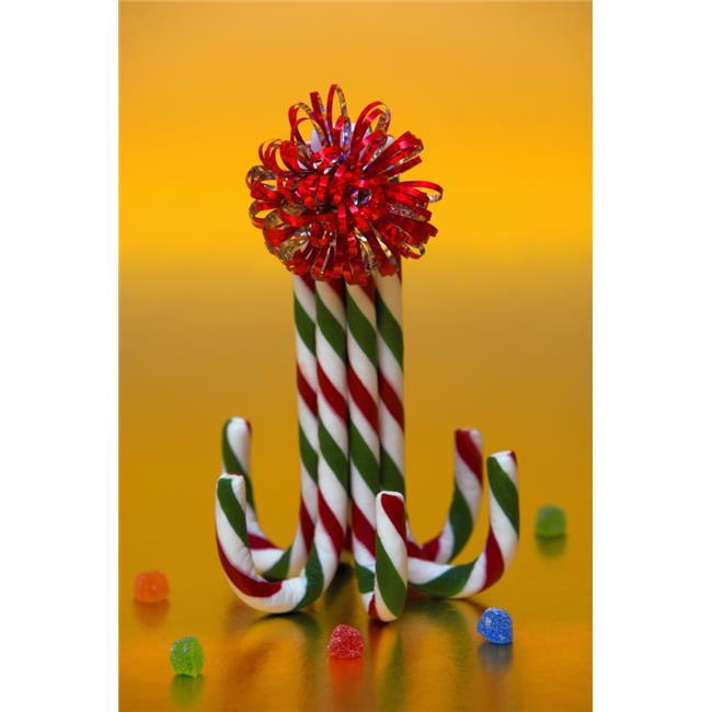Posterazzi DPI1782536 Candy Cane Decoration Poster Print by Carson Ganci, 11 x 17