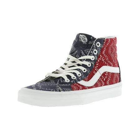 Vans Sk8-Hi Reissue Ditsy Bandana Chili Pepper Mid-Top Canvas Skateboarding Shoe - 8.5M / 7M