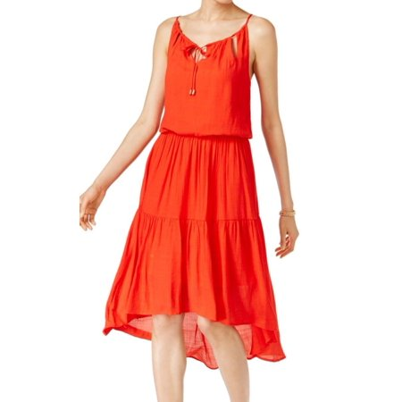 - Sangria NEW Red Women's Size 10 A-Line Hi-Low Keyhole Ruffle Dress