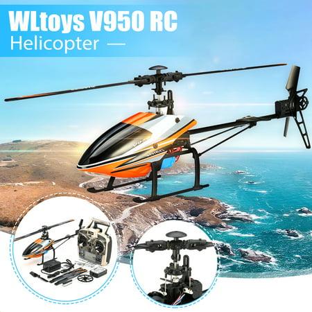 WLtoys V950 Brushless Flybarless RC Helicopter RTF 2.4G 6CH 3D 6G Mode 15mins Flight Time Christmas Birthday Gift