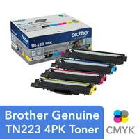 Brother Genuine Standard-Yield Toner Cartridge Four Pack TN223 4PK - includes one cartridge each of Black, Cyan, Magenta & Yellow Toner