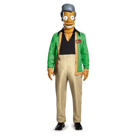 Adult Simpsons Apu - Kwik E Mart Deluxe Costume by Disguise 85387 - Nelson Simpson Halloween
