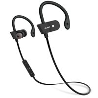 TSV Bluetooth V4.1 Headphone Wireless Earphone Sport Running Stereo Headset with Mic Red