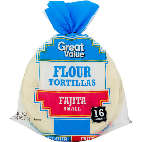 "Great Value 6"" Flour Tortillas, 16 ct"