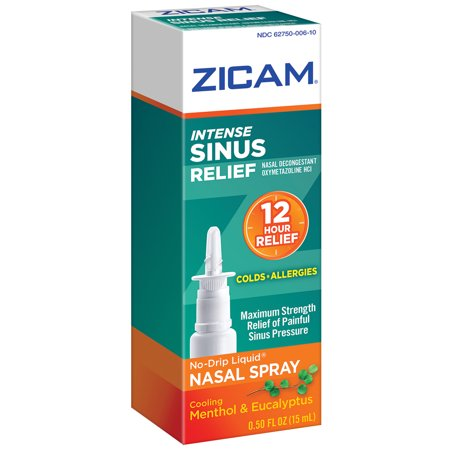 Zicam Intense Sinus Relief No Drip Liquid Sinus Gel  0 5 Fl Oz