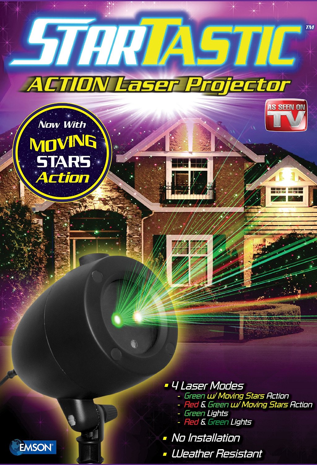 As Seen on TV Startastic Holiday Laser Light Show Projector - Motion