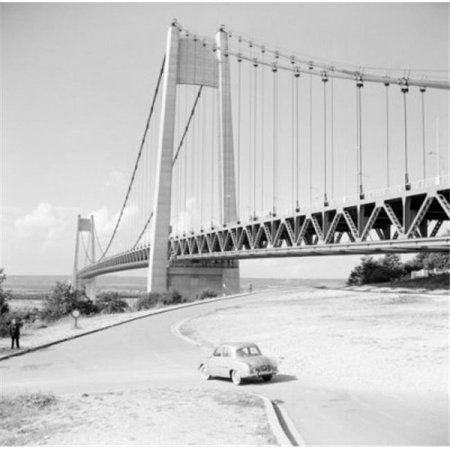 Posterazzi SAL255421435 France Normandy Tancarville Bridge Spanning the Seine River Poster Print - 18 x 24 in. - image 1 of 1