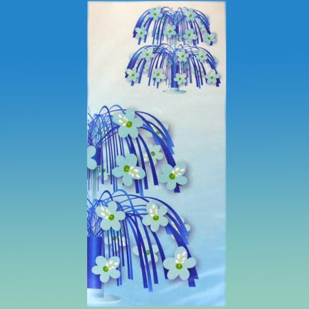 Hawaiian Luau Blue Hibiscus Cascade Centerpiece (1ct)