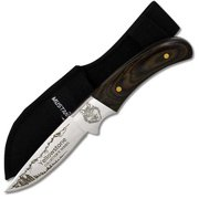 Joy Enterprises FP74411 Fury Mustang Wildlife Collector's Series Fixed Blade Knife with Nylon Sheath, Wolf, 8""